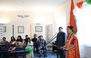 69th Republic Day of India -26 January 2018 -Flag Hoisting Ceremony at the Indian Consulate in Edinburgh.