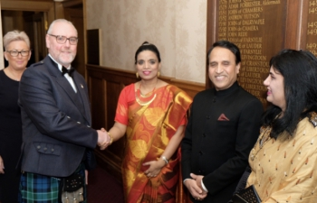26th January 2018- Reception on the 69th Republic Day at the Edinburgh City Chamber