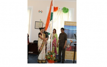 72nd Independence Day of India -15 August 2018 -Flag Hoisting Ceremony at the Indian Consulate in Edinburgh.