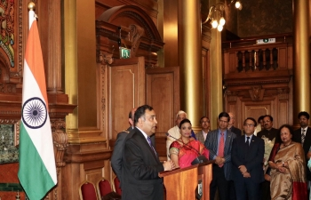 To bid farewell to the High Commissioner of India to UK, H.E. Mr Y.K. Sinha and Madame Girija Sinha, the Consulate General of India in association with the City Council of Edinburgh organised a farewell reception in the prestigious City Chambers of Edinburgh.