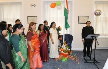 70th Republic Day of India -26 January 2019 -Flag Hoisting Ceremony at the Indian Consulate in Edinburgh.
