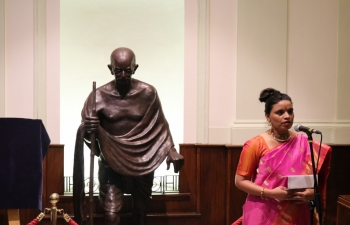 Unveiling Programme of the Bronze Statue of Mahatma Gandhi