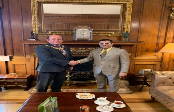 Consul General of India Mr. Hitesh Rajpal met with Lord Lieutenant & Lord Provost Rt Hon Frank Ross, Edinburgh on 7 November 2019 and discussed various issues to further enhance co-operation and strengthen bilateral relations.