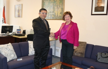 Consul General of India met with Dr Liz Cameron OBE, Director & Chief Executive, Scottish Chambers of Commerce.