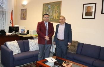 Consul General of India met with Dr Pankaj Pankaj, International Dean for South Asia, The University of Edinburgh.