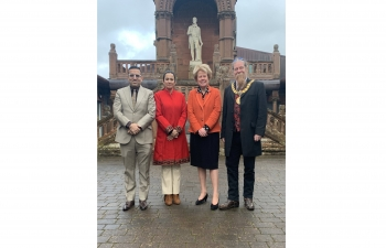 Consul General of India Mr Hitesh Rajpal met with Provost Jim Todd, East Ayrshire Council and Fiona Lees, Chief Executive, East Ayrshire Council on 13 January 2020 and look forward to strengthening Patna-Patna linkages and further avenues of cooperation.