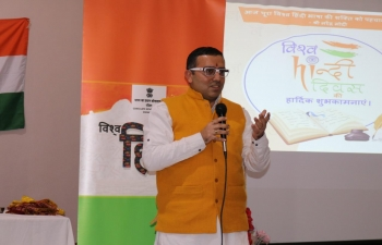 Celebrated World Hindi Day 2020, at Hindu Mandir, Glasgow with great enthusiasm. Consul General of India Mr Hitesh Rajpal conveyed greetings and spoke about the relevance of Hindi as well as World Hindi Day.Hindi workshop, quiz and poetry recitation were the highlights.