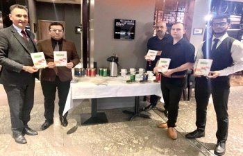 Consul General Hitesh Rajpal launched Indian Tea tasting event at Lorne Hotel Glasgow. Attendees learnt about and tasted different varieties of Indian teas, namely, Darjeeling, Assam and Nilgiri.