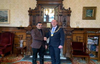 Consul General Hitesh Rajpal met Lord Lieutenant & Lord Provost Rt Hon Philip Braat, Glasgow City Council and discussed various issues of bilateral interest to further enhance co-operation with the City of Glasgow.