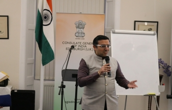 Consulate General of India conducted the third session out of 4 on 'Stress Management' of Inner Well-Being in association with Brahma Kumaris, Innerspace, Edinburgh. Welcoming all, Consul General Hitesh Rajpal spoke about significance of Indian traditional systems of health, well being, fitness & importance of stress management.