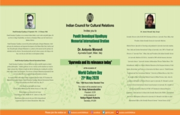 ICCR is celebrating the World Culture Day on 21 May 2020