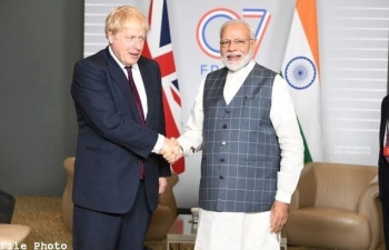 PM Modi's telephonic conversation with PM Johnson of the UK