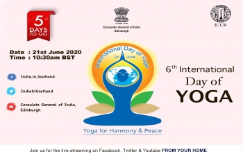 Live Celebration of International Day of Yoga 2020 at Consulate General of India.