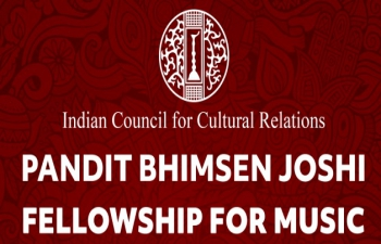 """The ICCR has introduced a new Fellowship Scheme in the name of eminent Indian Musician """"Pandit Bhimsen Joshi Fellowship for Music""""."""