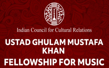 """The ICCR has introduced a new Fellowship Scheme in the name of eminent Indian Musician """"""""Ustad Ghulam Mustafa Khan Fellowship for Music""""."""